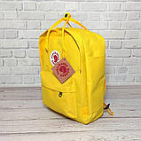 Яркий рюкзак сумка Fjallraven Kanken Classic канкен классик Желтый yellow + додарок Vsem, фото 5