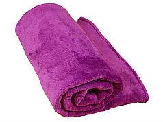 Плед для новорожденного в кроватку плюшевый велсофт 100х150 Фуксия