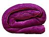 Плед для новорожденного в кроватку плюшевый велсофт 100х150 Фуксия, фото 4