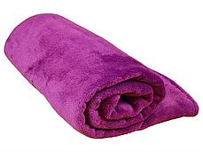 Плед для новорожденного в кроватку плюшевый велсофт 100х150 Фуксия, фото 3