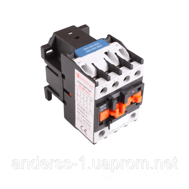 ElectroHouse Контактор магнітний 3P 25A 220-230V IP20 4НО