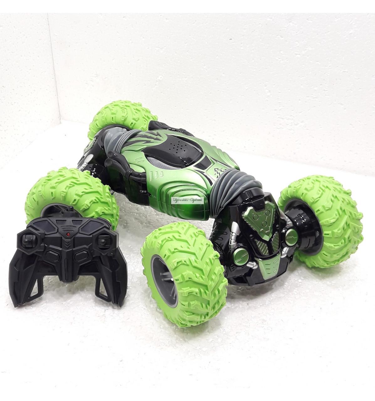 Игрушка Машинка трансформер перевертыш вездеход CHAMPION Зеленая TyT
