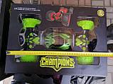 Игрушка Машинка трансформер перевертыш вездеход CHAMPION Зеленая TyT, фото 4