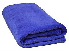 Плед для новорожденного в кроватку плюшевый велсофт 100х150 Синий