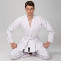 Кимоно для каратэ MATSA MA-0016 (хлопок-плотность 240г на м2, размер 000-6, рост-110-190см, белый)