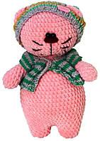 Игрушка ручной работы ABX Handmade котик Розовый