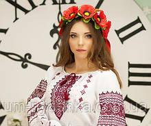 """Венок в украинском стиле с лентами """"МАКИ"""""""