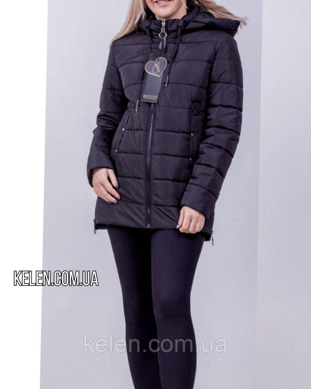 Куртка весна-осень черная матовая  размеры