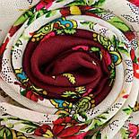 Родной напев 1900-6, павлопосадский платок шерстяной  с шелковой бахромой, фото 3