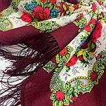 Родной напев 1900-6, павлопосадский платок шерстяной  с шелковой бахромой, фото 5