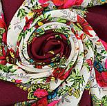 Родной напев 1900-6, павлопосадский платок шерстяной  с шелковой бахромой, фото 8