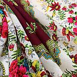Родной напев 1900-6, павлопосадский платок шерстяной  с шелковой бахромой, фото 9