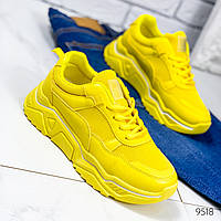 Кроссовки женские Lofn желтые 9518, фото 1