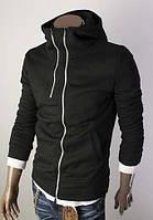 Черная мужская толстовка с капюшоном, фото 1