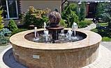 Фонтан  садовый вращающийся шар из натурального камня, Фонтаны для помещений, Фонтан плавающий шар, установка, фото 4