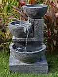 Фонтан  садовый вращающийся шар из натурального камня, Фонтаны для помещений, Фонтан плавающий шар, установка, фото 5