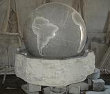 Фонтан  садовый вращающийся шар из натурального камня, Фонтаны для помещений, Фонтан плавающий шар, установка, фото 7