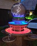Фонтан  садовый вращающийся шар из натурального камня, Фонтаны для помещений, Фонтан плавающий шар, установка, фото 8