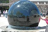Фонтан  садовый вращающийся шар из натурального камня, Фонтаны для помещений, Фонтан плавающий шар, установка, фото 9
