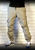 Хлопковые бежевые брюки джоггеры , фото 1