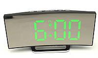 Годинники настільні дзеркальні DT-6507 з зеленою підсвіткою