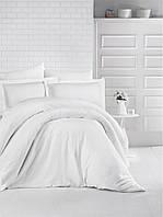 Комплект постельного белья Aran Clasy сатин Strip Beyaz