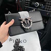 Женская черная мини-сумочка Pinko (Пинко), малая