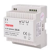 Блок живлення на DIN-рейку e.m-power.30.24 30Вт, DC24В