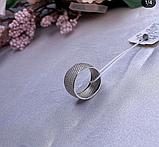 Кільце доріжка з розсипом фіанітів срібло Селеста, фото 4