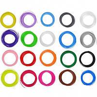 Набор цветного PLA пластика для 3D ручки ABX 6683, 20 шт