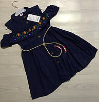 Легкое хлопковое платье для девочек 8-10 лет