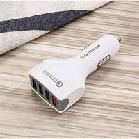 Автомобильное зарядное устройство с быстрой зарядкой Reddax RDX-110 3.5 A на 4 USB с кабелем micro-usb, white