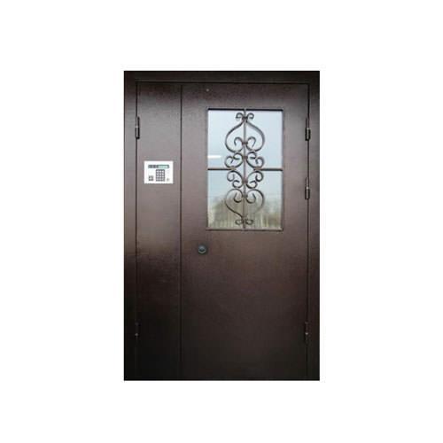 Дверь в подъезд с магнитным замком-Премиум+стекло