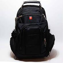 Вместительный рюкзак SwissGear, свисгир. Черный. 35L / 7697 black Vsem
