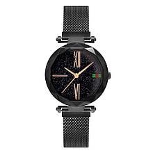 Стильные женские часы Starry Sky Watch черные. Скай воч. Vsem