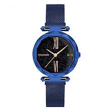 Стильные женские часы Starry Sky Watch. Синие. Скай воч. Vsem