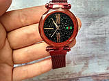 Стильные женские часы Starry Sky Watch. Красные. Скай воч. Vsem, фото 4