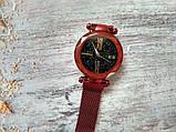 Стильные женские часы Starry Sky Watch. Красные. Скай воч. Vsem, фото 5