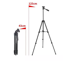 Штатив для камери(фото відео) і телефона тринога трипод А508 (125см)