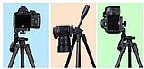 Штатив для камери(фото відео) і телефону тринога трипод А508 (125см), фото 2