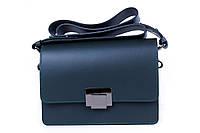 Итальянская женская сумка из натуральной кожи. Цвет: Темно-зеленый, фото 1