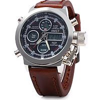 Мужские водонепроницаемые часы AMST 3003 коричневые, фото 1