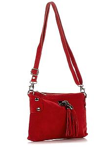 Женская итальянская кожаная сумка 24х16х1