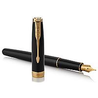 Перьевая ручка Паркер - Parker Sonnet 17 Black Lacquer GT