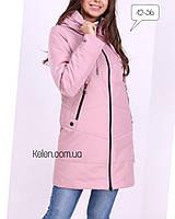 Молодежный женский  плащ нежно-розового цвета