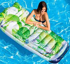 """Оригинальный надувной матрас Intex 58778 """"Мохито"""" 178х91 см плотик для летнего отдыха, фото 3"""