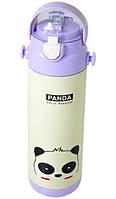 Термос-поилка детский с трубочкой Stenson MT-2089 500мл, панда
