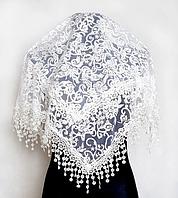 Праздничный платок Fashion Ангелина 80*80 см белый 2