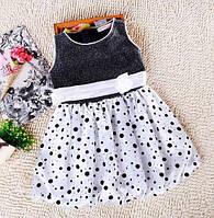 Дитяча сукня чорна з білим 7325