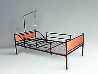 Медицинская функциональная двухсекционнная кровать для лежачих больных в полной комплектации